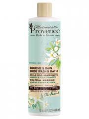 Mademoiselle Provence Douche & Bain Crème Riche-Nourrissante Amande & Fleur d'Oranger 400 ml - Flacon 400 ml