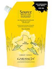 Garancia Source Micellaire Enchantée Eau Démaquillante Micellaire Fleur d'Oranger Éco-Recharge 400 ml - Sachet 400 ml