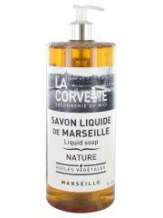 La Corvette Savon Liquide de Marseille Nature 1 L - Flacon-Pompe 1 L