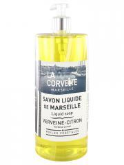 La Corvette Savon Liquide de Marseille Verveine - Citron 1 L - Flacon-Pompe 1 L