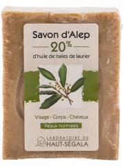 Laboratoire du Haut-Ségala Savon d'Alep 20% Baies de Laurier 200 g - Pain 200 g