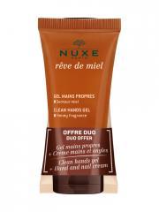 Nuxe Rêve de Miel Gel Mains Propres 30 ml + Crèmes Mains et Ongles 30 ml - Lot 2 produits