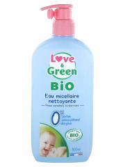 Love & Green Eau Micellaire Nettoyante Bio 500 ml - Flacon-Pompe 500 ml