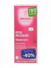 Weleda Déodorant à la Rose Musquée Lot de 2 x 100 ml - Lot 2 x 100 ml