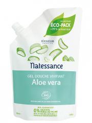 Natessance Gel Douche Vivifiant Aloe Vera Bio Recharge 650 ml - Sachet 650 ml