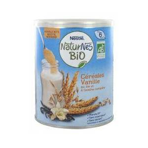 Nestlé Naturnes Bio Céréales Vanille Dès 6 Mois 240 g - Boîte 240 g - Publicité