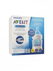 Avent Anti-Colic Valve AirFree 2 Biberons 125 ml 0 Mois et + - Boîte 2 biberons de 125 ml