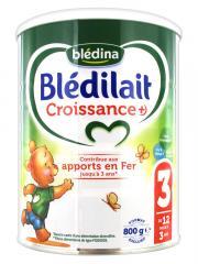 Blédina Blédilait Croissance+ 3 de 12 Mois à 3 Ans 800 g - Pot 800 g