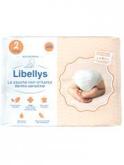 Libellys Couches Non-Irritantes Dermo-Sensitives Taille 2 (3-6 kg) 30 Couches - Sachet 30 Couches