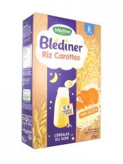Blédina Blédîner Céréales du Soir Riz Carottes de 6 à 36 Mois 210 g - Boîte 210 g