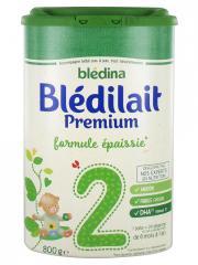 Blédina Blédilait Premium 2ème Âge Formule Epaissie de 6 Mois à 1 An 800 g - Boîte 800 g