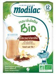 Modilac Mes Céréales Bio Dès 12 Mois Cacao Vanille 250 g - Boîte 250 g