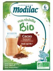 Modilac Mes Céréales Bio Dès 6 Mois Cacao 250 g - Boîte 250 g