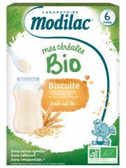 Modilac Mes Céréales Bio Dès 6 Mois Biscuité 250 g - Boîte 250 g