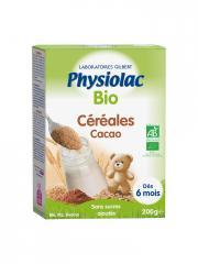 Physiolac Bio Céréales Cacao Dès 6 Mois 200 g - Boîte 200 g