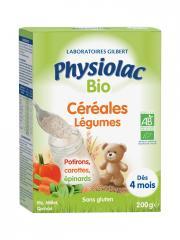 Physiolac Bio Céréales Légumes Dès 4 Mois 200 g - Boîte 200 g