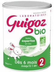 Guigoz Bio Lait 2ème Âge Dès 6 Mois Jusqu'à 1 An 800 g - Boîte 800 g