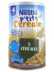 Nestlé P'tite Céréale 6 Mois et + 5 Céréales 400 g - Boîte 400 g