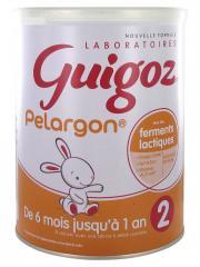 Guigoz Pelargon Lait 2ème Âge Dès 6 Mois Jusqu'à 1 An 800 g - Pot 800 g