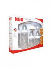 NUK First Choice Perfect Start Set 0-6 Mois - Coffret 4 Biberons + accessoires
