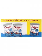Guigoz Optipro 3 Lait de Croissance dès 1 An Lot de 2 x 800 g + 800 g Offerts - Lot 3 x 800 g