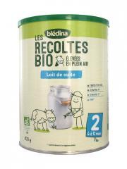 Blédina Les Récoltes Bio Lait de Suite 2ème Âge de 6 à 12 Mois 800 g - Boîte 800 g