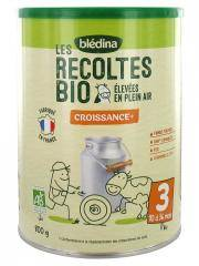 Blédina Les Récoltes Bio Lait de Croissance 3ème Âge de 1 à 3 Ans 800 g - Boîte 800 g