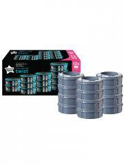 Tommee Tippee Recharges Poubelle à Couches Twist 12 Recharges - Carton 12 Recharges