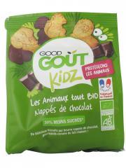Good Goût Kidz Animaux Nappés de Chocolat Bio 120 g - Sachet 120 g
