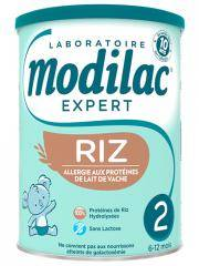 Modilac Expert Riz 2ème Âge 6-12 Mois 800 g - Boîte 800 g