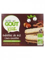 Good Goût Kidz Galettes de Riz Choco-Noisettes Bio 6 Galettes - Boîte 6 sachets de 1 galette