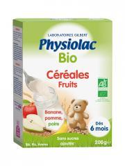 Physiolac Bio Céréales Fruits Dès 6 Mois 200 g - Boîte 200 g