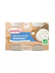 Babybio Brassé Nature 6 Mois et + Bio 2 Pots de 130 g - Carton 2 pots de 130 g