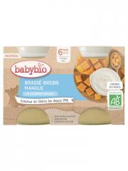 Babybio Brassé Brebis Mangue 6 Mois et + Bio 2 Pots de 130 g - Carton 2 pots de 130 g