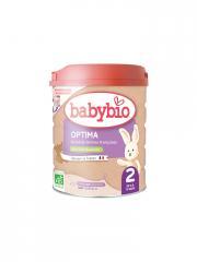 Babybio Optima 2 de 6 à 12 Mois Bio 800 g - Boîte 800 g
