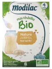 Modilac Mes Céréales Bio Dès 4 Mois Nature 250 g - Boîte 250 g