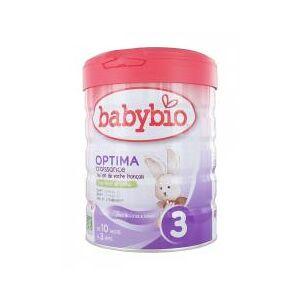 Babybio Optima Croissance 3 de 10 Mois à 3 Ans Bio 800 g - Boîte 800 g - Publicité