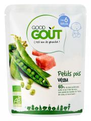 Good Goût Petits Pois Veau dès 6 Mois Bio 190 g - Sachet 190 g