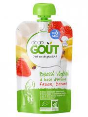Good Goût Brassé Végétal Avoine Fraise Banane dès 6 Mois Bio 90 g - Gourde 90 g