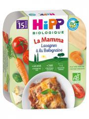 HiPP La Mamma Lasagnes à la Bolognaise dès 15 Mois Bio 250 g - Plat 250 g
