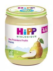 HiPP Mes Premiers Fruits Poires dès 4/6 Mois Bio 125 g - Pot 125 g