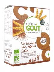 Good Goût Biscuits Tout Ronds Cacao Dès 10 Mois Bio 20 Biscuits - Boîte 4 sachets de 5 biscuits
