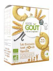 Good Goût Biscuits Tout Ronds Vanille Dès 10 Mois Bio 20 Biscuits - Boîte 4 sachets de 5 biscuits