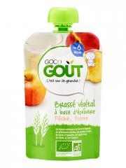 Good Goût Brassé Végétal Épeautre Pêche Pomme dès 6 Mois Bio 90 g - Gourde 90 g