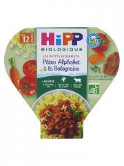 HiPP Les Petits Gourmets Pâtes Alphabet à la Bolognaise dès 12 Mois Bio 230 g - Plat 230 g