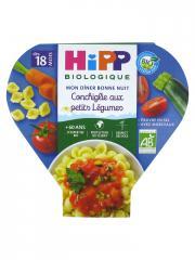 HiPP Mon Dîner Bonne Nuit Conchiglie aux Petits Légumes dès 18 Mois Bio 260 g - Plat 260 g