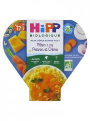 HiPP Mon Dîner Bonne Nuit Pâtes 123 Potiron et Crème dès 12 Mois Bio 230 g - Plat 230 g