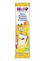 HiPP Barre Pommes Bananes et Céréales dès 12 Mois Bio 25 g - Sachet 1 barre de 25 g