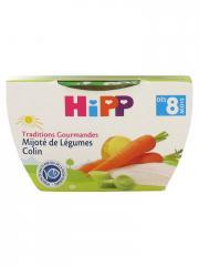 HiPP Traditions Gourmandes Mijoté de Légumes Colin dès 8 Mois 190 g - Pot 190 g