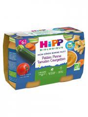 HiPP Mon Dîner Bonne Nuit Petites Penne Tomates Courgettes dès 6 Mois Bio 2 Pots - Carton 2 pots de 190 g